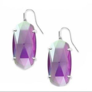 Esme Drop Earrings Grey Dichroic